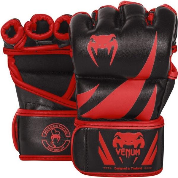 『VENUM旗艦館』M UFC VENUM搏擊MMA挑戰者號∼康貝入門初級手套∼健身房BODY COMBAT手套-黑紅