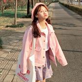 秒殺燈芯絨外套春裝女裝韓版學院風寬鬆燈芯絨短款上衣百搭長袖外套學生