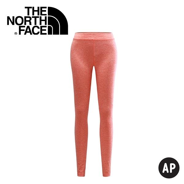 【The North Face 女 LIGHTEN 緊身褲 明亮霧橘】 CZR5/春夏款/慢跑褲/緊身褲/運動褲