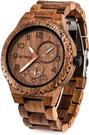 Bewell【日本代購】復古懷舊木錶 男士手錶 石英錶 - 胡桃木