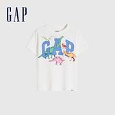 Gap男幼童 布萊納系列 Logo童趣圓領短袖T恤 671201-恐龍印花