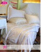 法式典藏˙浪漫臻愛系列『浪漫巴黎』香檳色*╮☆六件式專櫃高級床罩組6*6.2尺