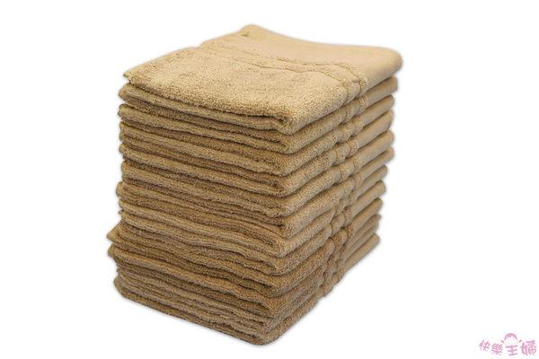 素色毛巾 28兩商用 / 焦糖色 / 美容 美髮 88g 100%純棉 / 台灣專業製造【快樂主婦】
