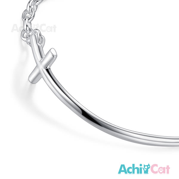 925純銀手鍊 AchiCat 純銀飾 簡約十字架