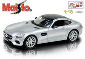 【Maisto】Mercedes Benz AMG GT 1:18合金模型車 (銀色)