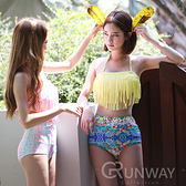 【R】現貨- 韓版 高腰 流蘇 性感 甜美  比基尼 彩色 泳衣 泳裝 游泳衣 韓泳裝  兩件式   夏日必備
