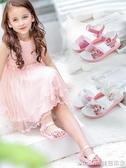 女童涼鞋2018新款潮小女孩公主鞋露趾小學生韓版中大童冬季兒童鞋 美芭