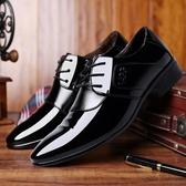 皮鞋—男鞋春季夏季潮鞋新款韓版男士百搭尖頭英倫潮流商務正裝皮鞋 依夏嚴選