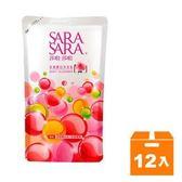 莎啦莎啦 玫瑰嫩白沐浴乳 補充包 800g (12入)/箱