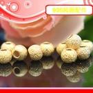 銀鏡DIY S925純銀材料配件/鍍22K黃金砂金圓珠/擋珠4mm~適合手作串珠/蠶絲蠟線/幸運繩