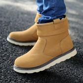 冬季雪地靴男2019新款短靴韓版休閒加絨加厚保暖高筒棉鞋馬丁靴子