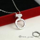 項鍊 925純銀鑲鑽吊墜-T型戒指生日母親節禮物女飾品73dk17【時尚巴黎】