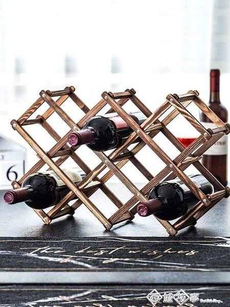 紅酒架擺件創意葡萄酒櫃架實木展示架家用酒瓶架客廳酒架子裝飾品 璐璐