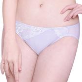 思薇爾-花薔系列M-XL蕾絲低腰三角內褲(安平紫)