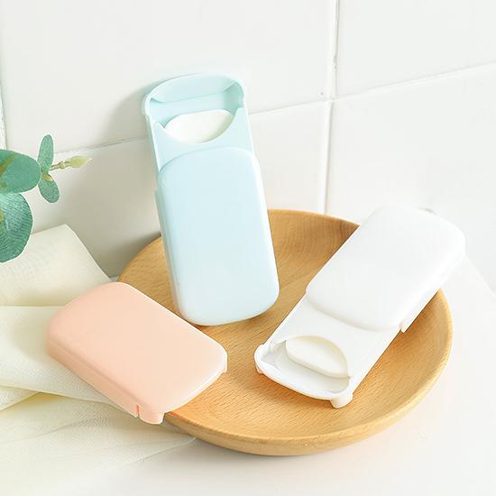 肥皂紙 滑蓋 洗手紙 補充包 香皂紙 隨身 旅行 防疫 清潔 簡約滑蓋皂紙(1入)【T004】生活家精品
