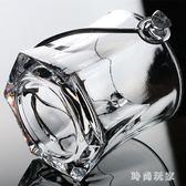 冰桶 玻璃四角六角冰塊桶KTV酒吧帶提手透明  ZB1150『時尚玩家』