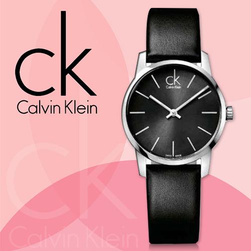 CK手錶 Calvin Klein  K2G23107 張鈞甯 時尚 黑色極簡弧形切面 皮革錶帶 石英 女錶