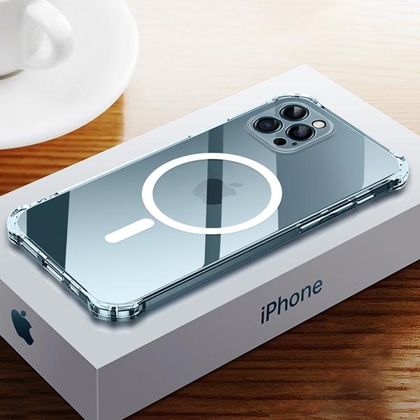 Magsafe磁吸殼 iPhone 12 Pro max 12mini i12 透明 氣囊防摔殼 保護殼 保護套 手機殼