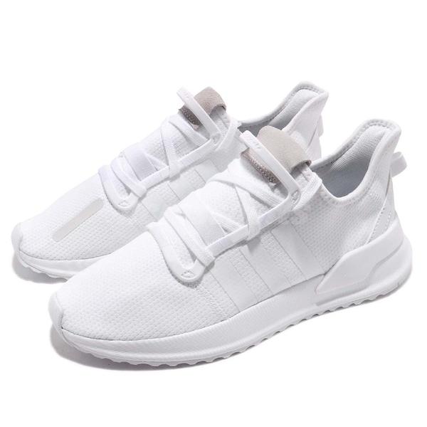 adidas 休閒鞋 U_Path Run W 全白 白 男鞋 女鞋 襪套式 復古慢跑鞋 運動鞋 小白鞋 【PUMP306】 G27637