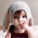 【童】搞怪卡通兔耳朵針織毛線帽 3色【E297252】
