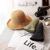 夏天韓版高檔拉菲草折疊草帽大帽檐防曬遮陽沙灘帽女帽出游帽子  新年下殺