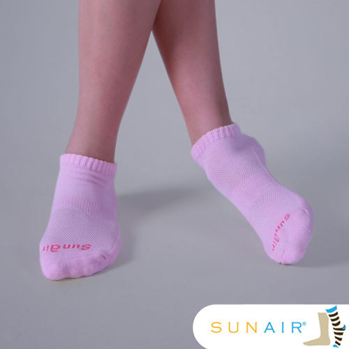 sunair 滅菌除臭襪子-標準型運動船襪 M(21~24.5)(粉紅) /SA2004
