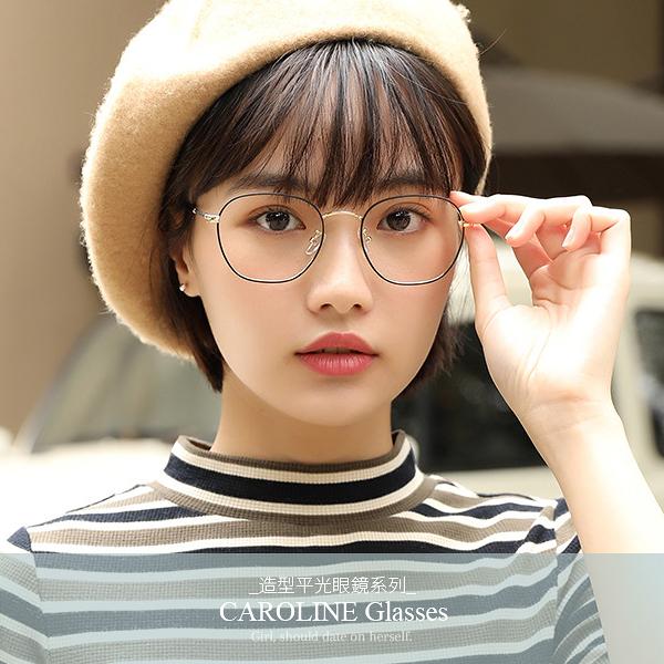《Caroline》年度最新款平光鏡 純淨,清爽 復古圓型平光眼鏡 71419