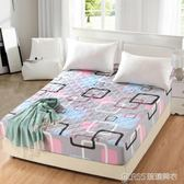 加厚夾棉床笠單件1.8床墊套席夢思床罩保護套防塵罩防滑    琉璃美衣