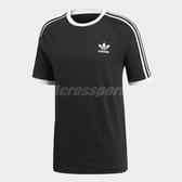 adidas T恤 Originals 3 Strpe T 男款 素T 短袖 上衣 短T 三條線 三葉草 黑白 黑 白 【ACS】 CW1202