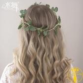 綠植花環發箍新娘伴娘花童旅拍頭飾簡約森系發飾【雲木雜貨】