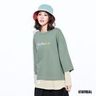 STAYREAL LOVE寬版拼接長T...
