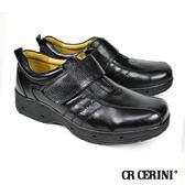 【CR CERINI】舒適透氣休閒皮鞋 黑色(81191-BL)