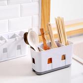 瀝水架 免釘 水槽置物架  分隔收納  湯匙 筷架  壁掛式  無痕 ◄ 生活家精品 ►【M027】