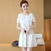 碎花洋裝 碎花裙子女夏裝2020新款初中學生韓版中長款小清新露肩收腰連身裙完美