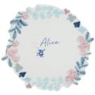 【震撼精品百貨】愛麗絲夢遊仙境_Alice~日本迪士尼愛麗絲 造型陶瓷圓盤/點心盤-藍/玫瑰邊#26074