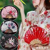 折扇 日式和風貝殼式女士折疊扇扇子中國風便攜扇 nm7111【歐爸生活館】