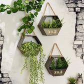 田園復古鐵藝吊掛花盆花架墻飾掛件創意懸掛花籃壁掛墻面裝飾花器