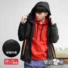 美式多功能抓絨防潑水連帽衝鋒外套(黑色)● 樂活衣庫【W917】