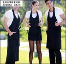 圍裙 韓版時尚工作服 廚房家居做飯男女圍腰 廚師咖啡店工作圍裙特價
