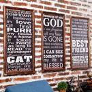 壁掛復古木板畫創意墻面掛畫LOFT掛件美式酒吧咖啡廳工業風壁掛裝飾品 雙12交換禮物