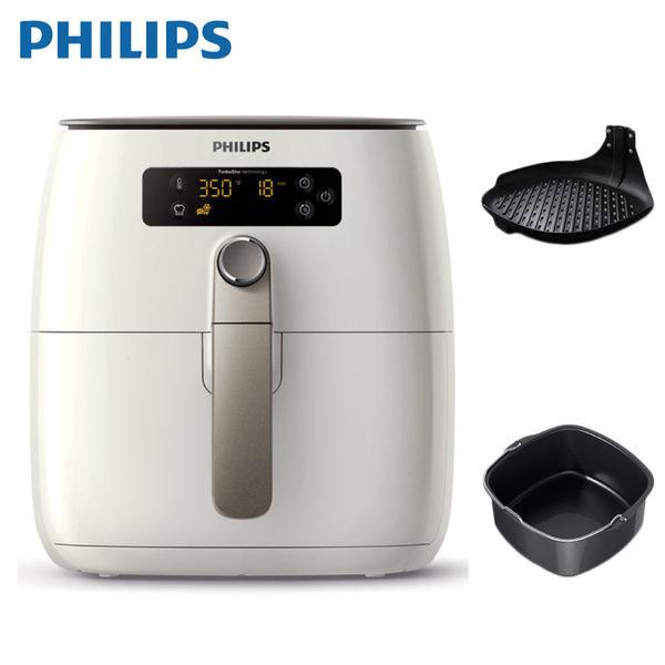 [PHILIPS 飛利浦]TurboStar 健康氣炸鍋 (贈煎烤盤+烘烤鍋) HD9642