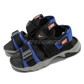 【海外限定】Nike 涼鞋 Wmns Canyon Sandal 黑 藍 灰 潑墨 魔鬼氈 女鞋 【ACS】 CV5515-003