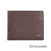 Crocodile 經典鱷魚壓紋短夾   0103-4004