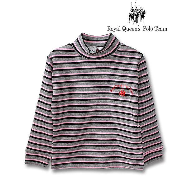 半高領長袖三色條紋上衣RQ POLO 小童秋冬款 [16017]