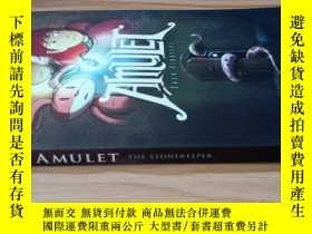 二手書博民逛書店英文原版】AMULET罕見BOOK ONE THE STONEKEEPER(護身符第一卷石頭守護者)Y2011