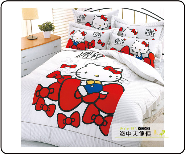 {{海中天休閒傢俱廣場 }} G-12 摩登時尚 床罩系列 257-3 KT-蝴蝶結床包兩用單人被組(白)