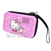 〔小禮堂〕Hello Kitty 行李箱造型硬殼旅行盥洗包《粉》空罐.腕繩化妝包 4712977-46569