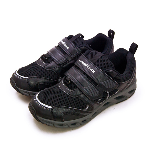 LIKA夢 GOODYEAR 固特異 輕量緩震慢跑鞋 樂齡風動系列 黑灰 93320 男