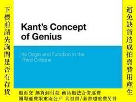 二手書博民逛書店Kant s罕見Concept Of GeniusY255174