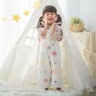 日本 Hoppetta 蘑菇六層紗成長型睡褲/防踢被 總公司代理貨